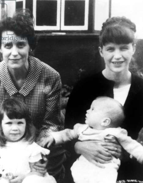 SYLVIA PLATH, with her two children and her mother Aurelia in Devon, England c. 1962