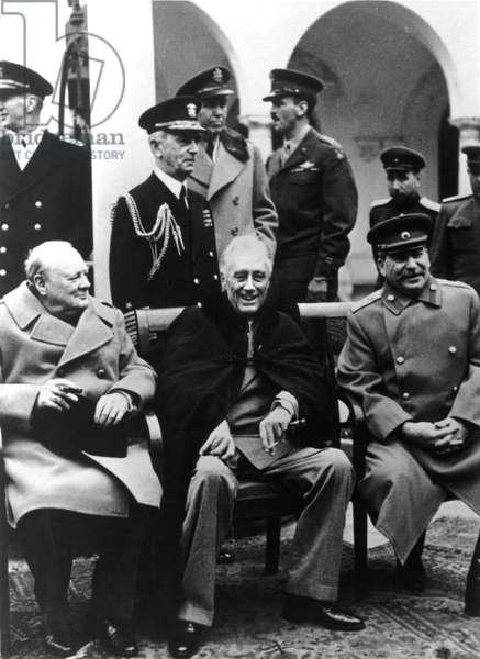 Yalta Conference, Winston Churchill, Franklin Delano Roosevelt, Josef Stalin, 1945