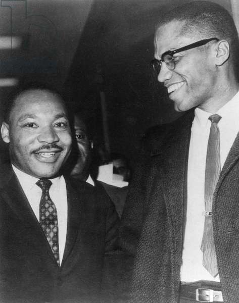 Martin Luther King Jr., and Malcolm X, circ. 1964