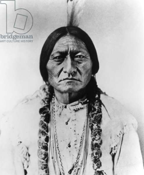 Sitting Bull, the Plains Indian that fought against General George Custer at the Battle of Little Big Horn in 1876