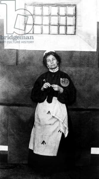 Emmeline Pankhurst in prison, 4/3/13