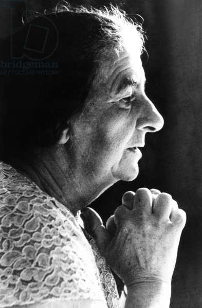 Golda Meir, Israeli Prime Minister, was elected on March 17, 1969. She came out of retirement after Levi Eshkol's unexpected death on Feb. 26, 1969