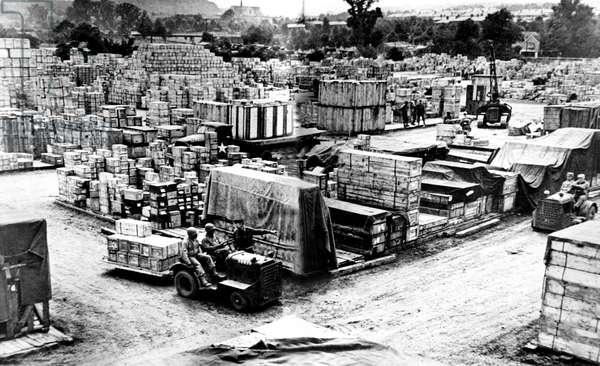 WORLD WAR II, Normandy Invasion supplies, c.1944