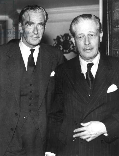 Sir Anthony Eden, British Prime Minister Harold MacMillan, c. 1958