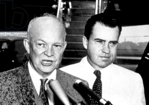 Dwight D. Eisenhower, Richard Nixon, c.late 1950s