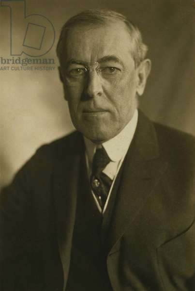 President Woodrow Wilson (1856-1924) in 1919 portrait