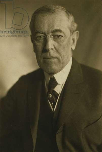 President Woodrow Wilson (1856-1924) in 1919 portrait