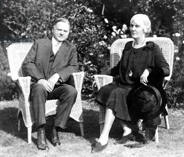 President Herbert Hoover (1874-1964) with First Lady Lou Henry Hoover (1874-1944). Mrs. Hoover was a Stanford educated geologist and active First Lady