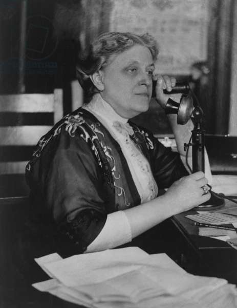 Carrie Chapman Catt, ( 1859-1947), was president of the National American Woman Suffrage Association when the Nineteenth Amendment grant women the right to vote was adopted in 1920