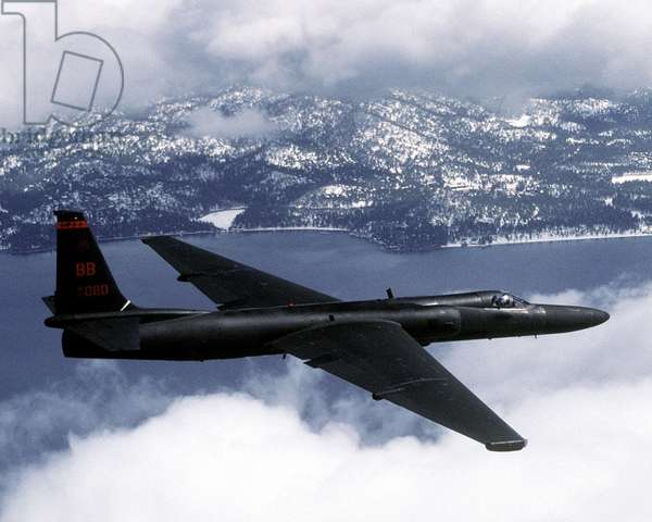 US Air Force U-2 high-altitude reconnaissance aircraft. It first flew in 1955 and remained a military secret until Francis Gary Power's flight was shot down by the Soviet Union on May 1, 1960