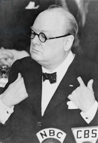 Winston Churchill (1874-1965), during a speech to the U.S. Senate shortly after the United States entered World War II. December 26, 1941