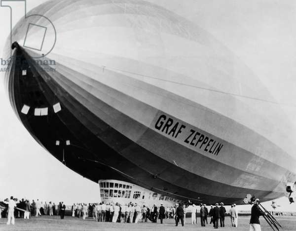 The LZ 129 Graf Zeppelin, making a stopover in Miami, on its way to the Century of Progress exposition in Chicago, Miami, Florida, c.October 23, 1933