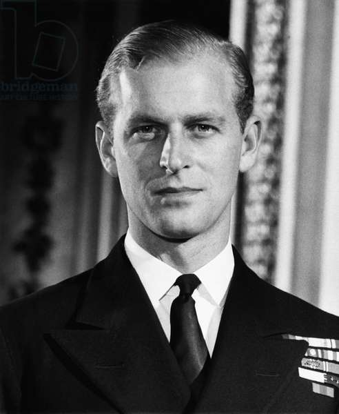 British Royalty. Lieutenant Philip Mountbatten (future Duke of Edinburgh Prince Philip), 1947