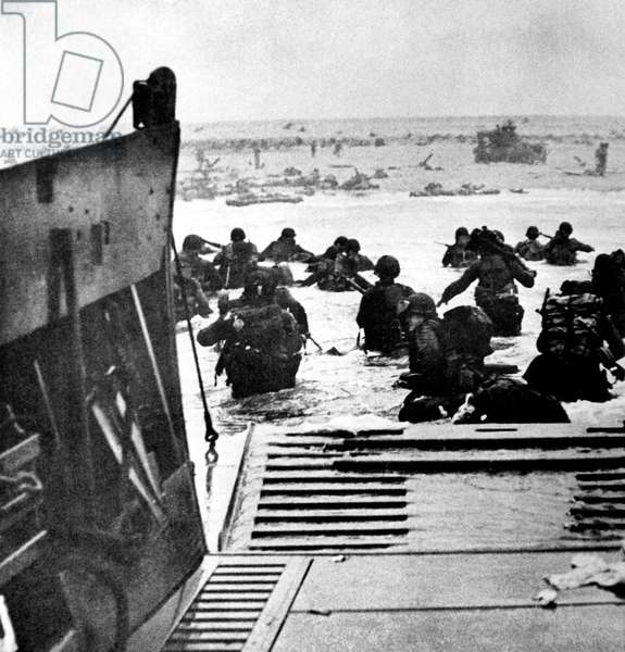 World War II: D-Day, the Invasion of Normandy, June 6, 1944.