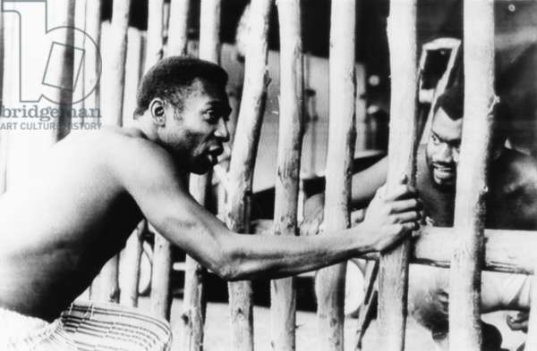 Brazilian Soccer superstar Pele, in the 1971 movie A MARCHA produced by Oswaldo Sampaio. Pele played the part of 'Chico Bondade,' a free Negro who led a slave revolt in Brazil in the 1880's