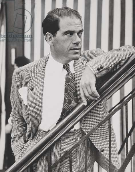 Frank Capra, film director, aboard the SS Rex arriving from Italy to New York, June 24, 1937
