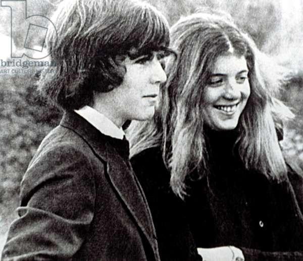 JOHN F. KENNEDY Jr., and CAROLINE KENNEDY, in Skorpios Greece, March 18, 1975