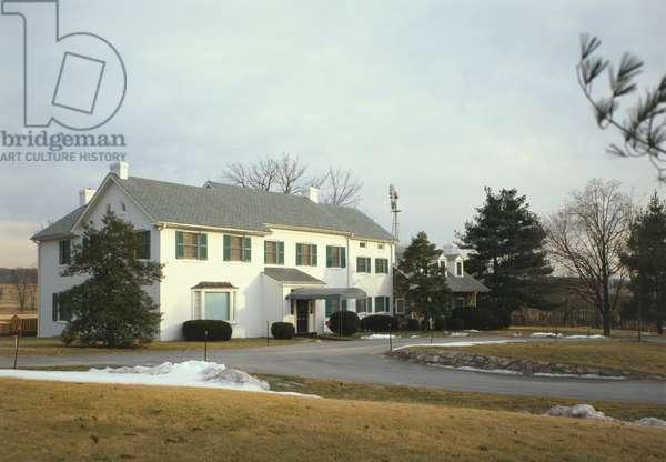 The main house at Eisenhower Farm on Emmitsburg Road (U.S. 15), Gettysburg, Pennsylvania.