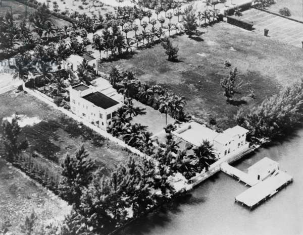 Al Capone's luxurious Florida estate was cited as evidence of his extravagant life style during his 1931 tax evasion trial
