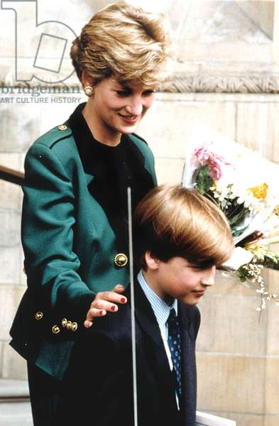 PRINCESS DIANA and son PRINCE WILLIAM, at the National Museum in London, 04/13/92