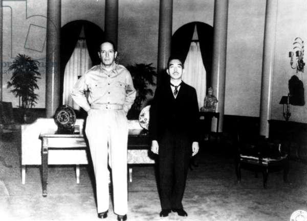Japanese Emperor Hirohito, Douglas MacArthur, September 1945