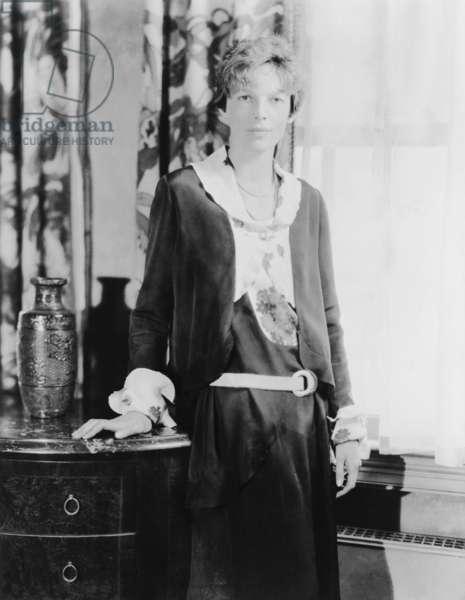 Amelia Earhart (1897-1937), celebrated American aviator. c. 1930