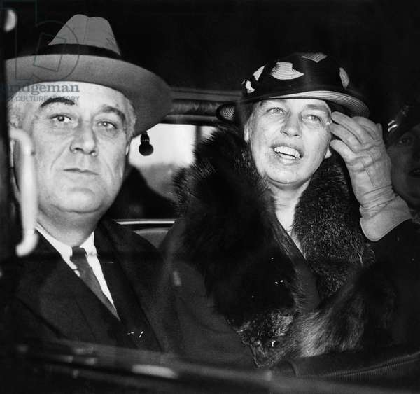 President Franklin D. Roosevelt, and First Lady Eleanor Roosevelt, on their 29th wedding Anniversary, March 17, 1934