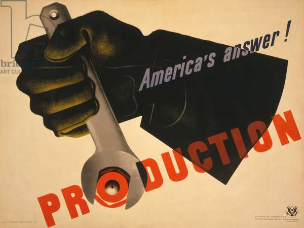Production, America's answer!, 1941 (poster)