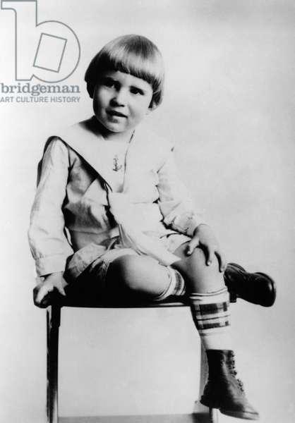 Richard Nixon. Future US President Richard Nixon, childhood portrait, c.1917