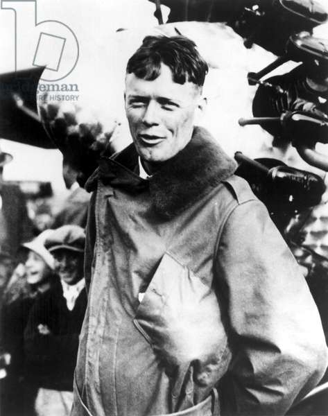 Charles Lindbergh after his trans-Atlantic flight, Paris, 1927