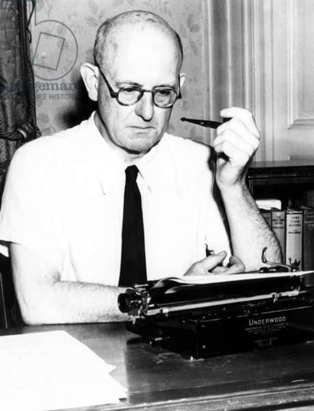 P. G. Wodehouse (1881-1975), English author, c.1970s.