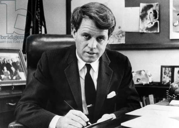 Senator Robert F. Kennedy in his office, Washington, D.C., March 2, 1967.