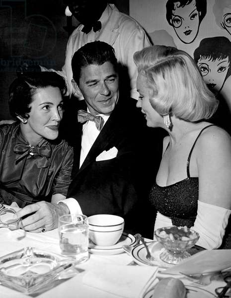Nancy Reagan, Ronald Reagan, Marilyn Monroe at the GENTLEMEN PREFER BLONDES party, 1953