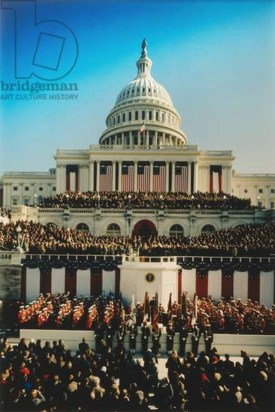 U.S. Capitol West Front during the Inauguration of President William Clinton. Jan. 20, 1993