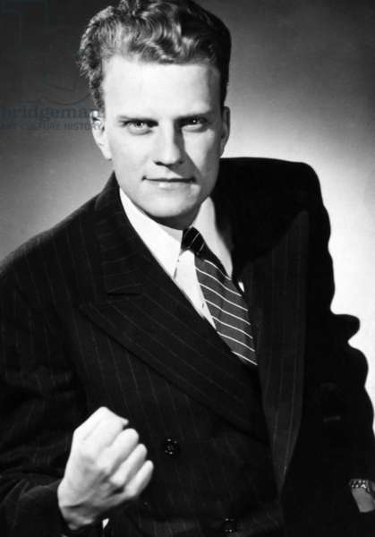 Evangelist, Billy Graham. c. 1947.