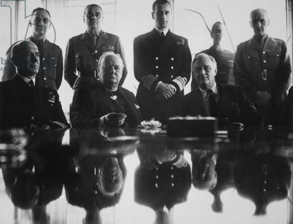 WW2 Allies at the Casablanca Conference. Jan. 14-24, 1943
