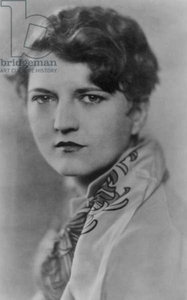 Zelda Fitzgerald (1900-1948), talented and troubled wife of American writer, F. Scott Fitzgerald in 1928