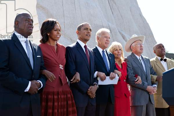 Freedom Anthem' at dedication ceremony for the Martin Luther King Jr. National Memorial. Oct. 14, 2011
