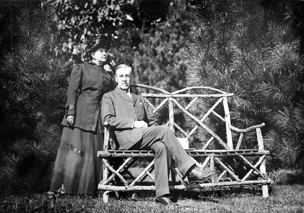 Woodrow Wilson and wife, January 31, 1912.