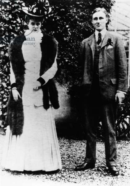 FDR. Future First Lady Eleanor Roosevelt with future US President Franklin Delano Roosevelt, c.1900s