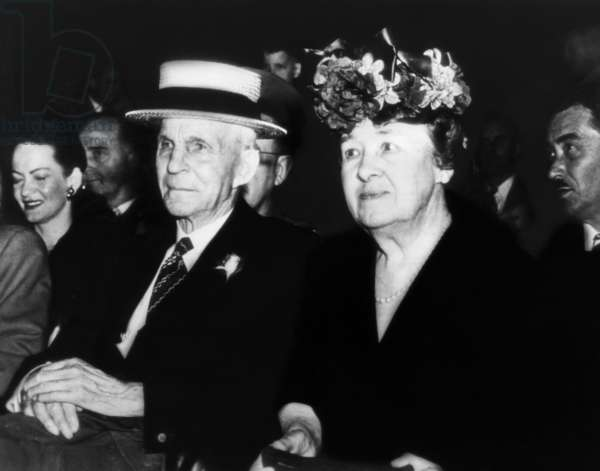 Henry Ford and Clara Bryant Ford, in attendance at a celebration honoring Mr. Ford's 83rd birthday. July 30, 1946
