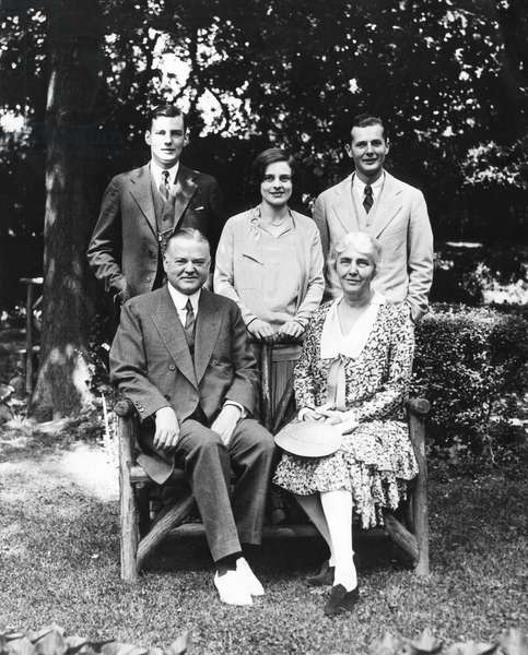 Front: Future President Herbert Hoover, as Secretary of Commerce, future First Lady Lou Henry Hoover, back: Herbert Hoover Jr., his wife Margaret Hoover, Alan Hoover, June 17, 1928