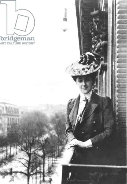 Agatha Mary Clarissa Miller(AGATHA CHRISTIE), in Paris, 1906