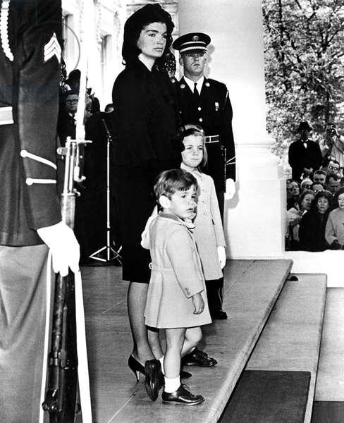 Jacqueline Kennedy, John F. Kennedy Jr., Caroline Kennedy, 11/63, at funeral of John F. Kennedy