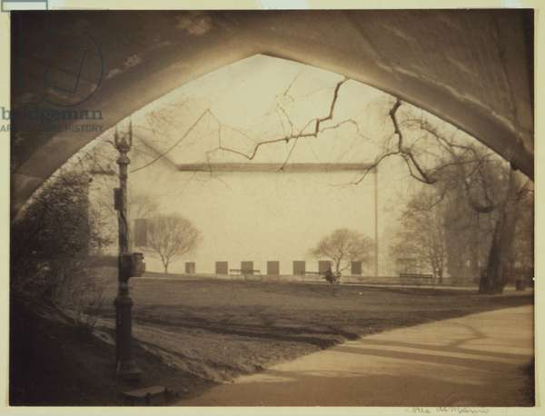 New York City, the Metropolitan Museum of Art seen through the Greywacke Arch, Central Park, photograph by Doris Ulmann, c.1917