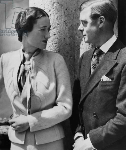 Duchess of Windsor Wallis Simpson and Prince Edward, Duke of Windsor c.early 1940s