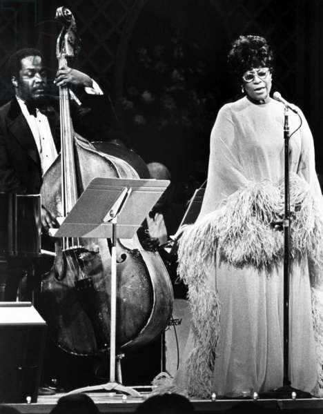 Ella Fitzgerald, performing on Evening at Pops c. 1970s.