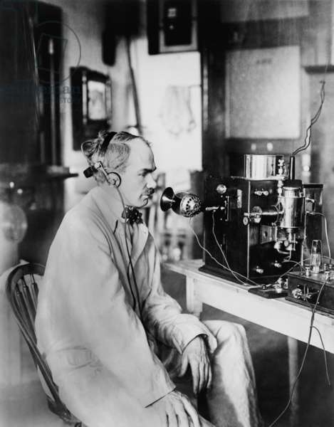 Lee DeForest, (1873-1961), ran an experimental radio station in New York City in 1916, where he made the and the first radio announcement of Presidential election results when Woodrow Wilson was reelected in 1916