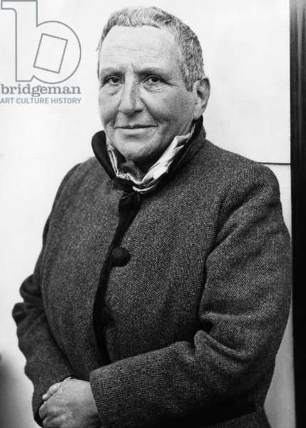 Author Gertrude Stein, 1934.
