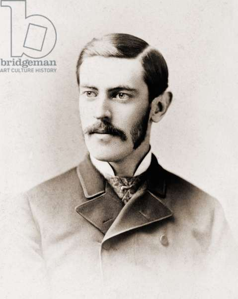 Woodrow Wilson (1856-1924), future American President in his twenties, as graduate student at Johns Hopkins University in 1883, where he received a Ph.D. in history and political science